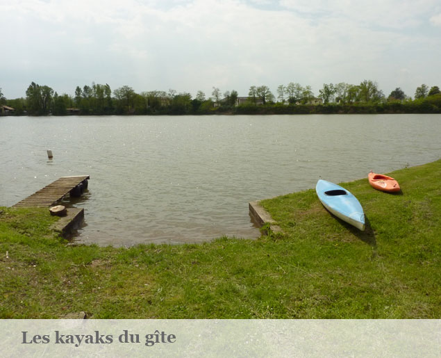 photo des kayaks du gite les capistes